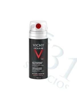 VICHY HOMME DESOD.TRIPLE DIF. 72 H 150ML