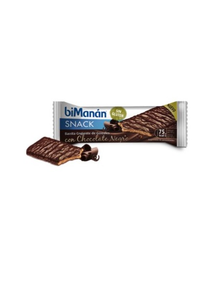 BIMANAN SIN GLUTEN CHOCOLATE NEGRO 1 BARRITA