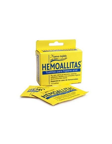HEMOALLITAS TOALLITAS ANAL 10U