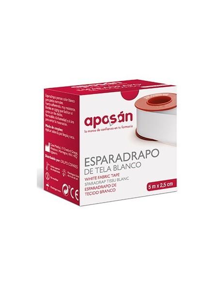 Esparadrapo Aposan Tela Blanco 5 X 2. 5 Cm