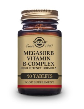 Solgar Megasorb Vitamina Bcomplex 50 Comprimidos