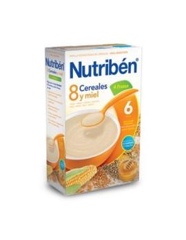Nutriben Papilla 8 Cereales y Miel 4 Frutas 600G
