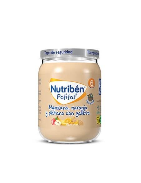 Nutriben Manzana Naranja Platano y Galleta Potit