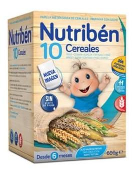 NUTRIBEN PAPILLA 10 CEREALES 1 ENVASE 600 G