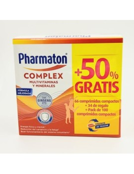 PHARMATON COMPLEX 66+34 COMPRIMIDOS